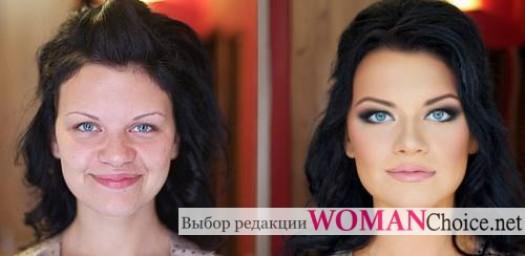 Исправление формы носа с помощью макияжа